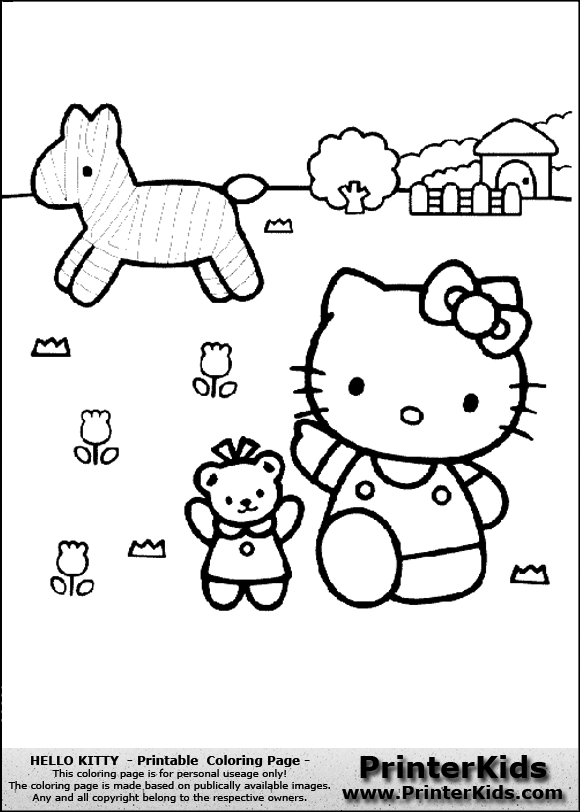 Hello Kitty Hawaiian Coloring Pages : Free coloring pages of hawaii hello kitty