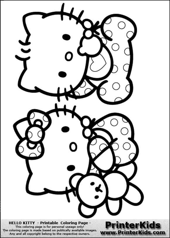 Hello Kitty Baby Colouring Pages Page 2