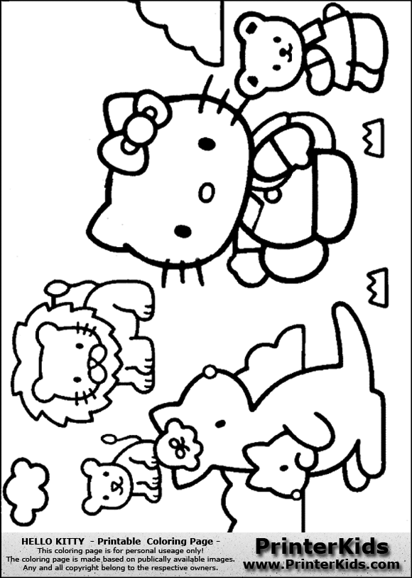 Hello Kitty Zoo Coloring Pages : Free coloring pages