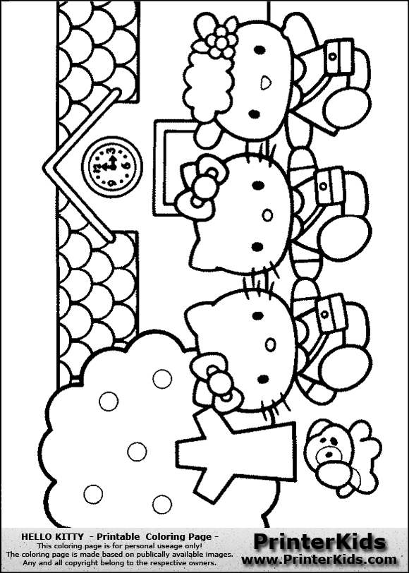 Hello Kitty Baking Coloring Pages : Free coloring pages of hello kitty cupcake