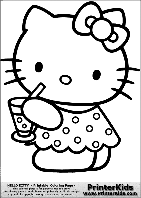 Free hello kitty princess coloring pages for Hello kitty princess coloring page