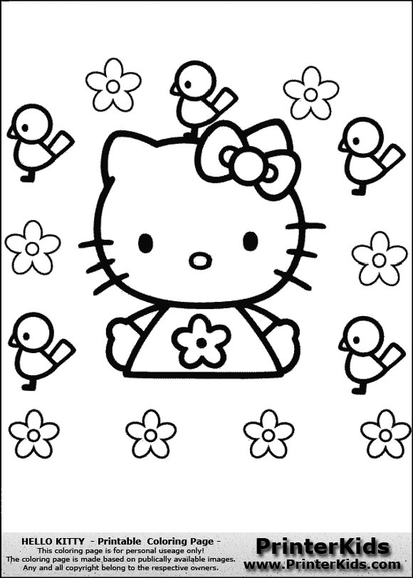 Hello Kitty Soccer Coloring Pages : How to draw png