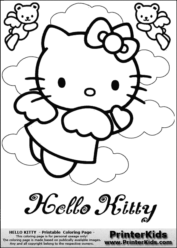 Printable hello kitty scooter coloring pages free printable coloring - Free Coloring Pages Of Angel Hello Kitty