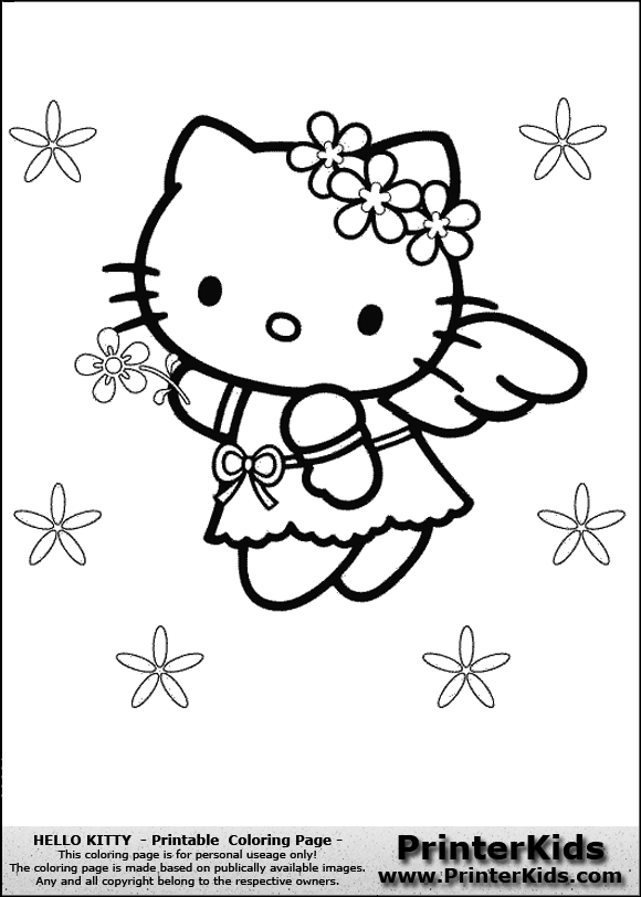 view images angel flowers colouring pages - Flower Girl Coloring Book