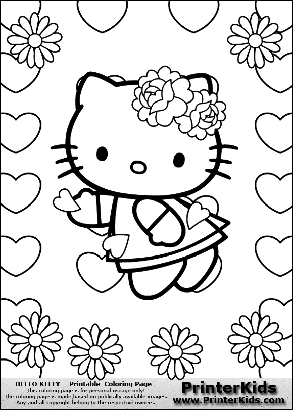 coloring pages of flowers and hearts coolage