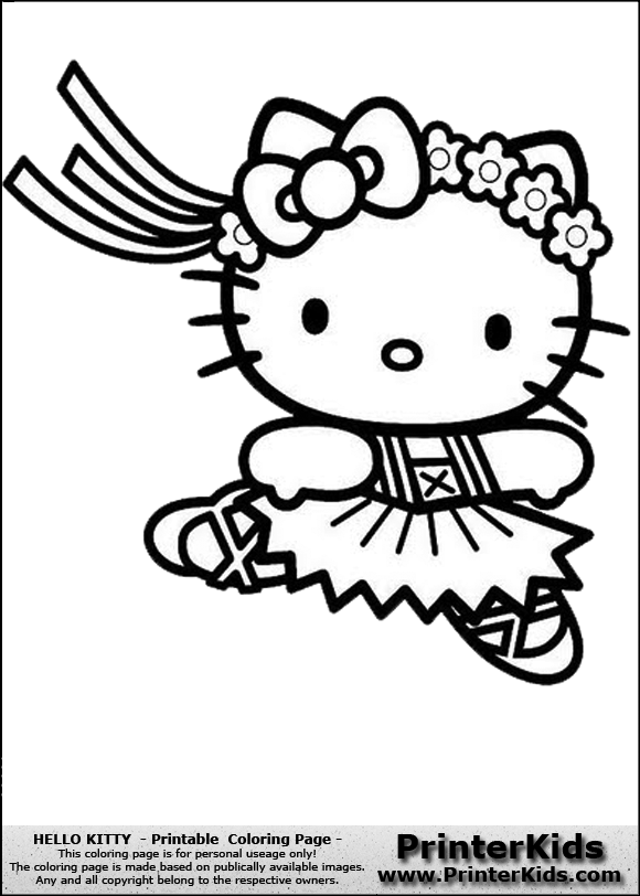 view png color page online - Kitty Ballet Coloring Pages