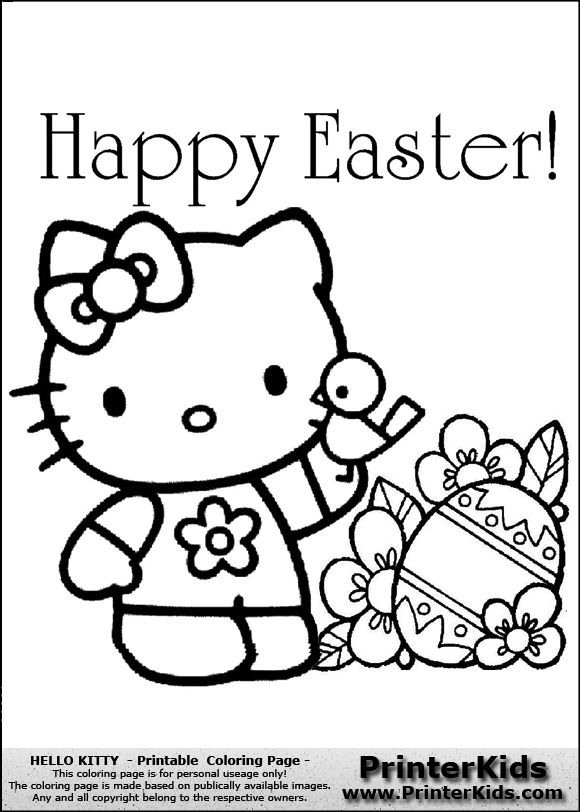 view png u0026middot color page online u0026middot print coloring page - Kitty Easter Coloring Pages