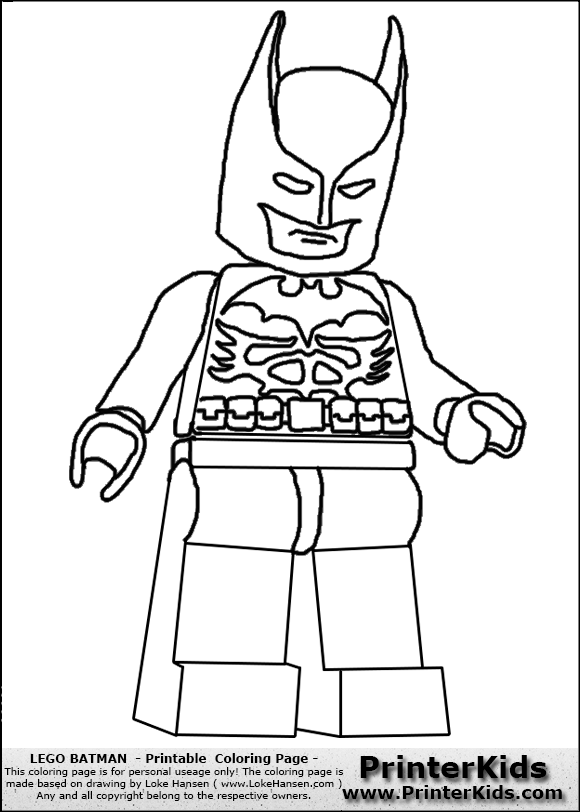 anime batman lego colouring pages