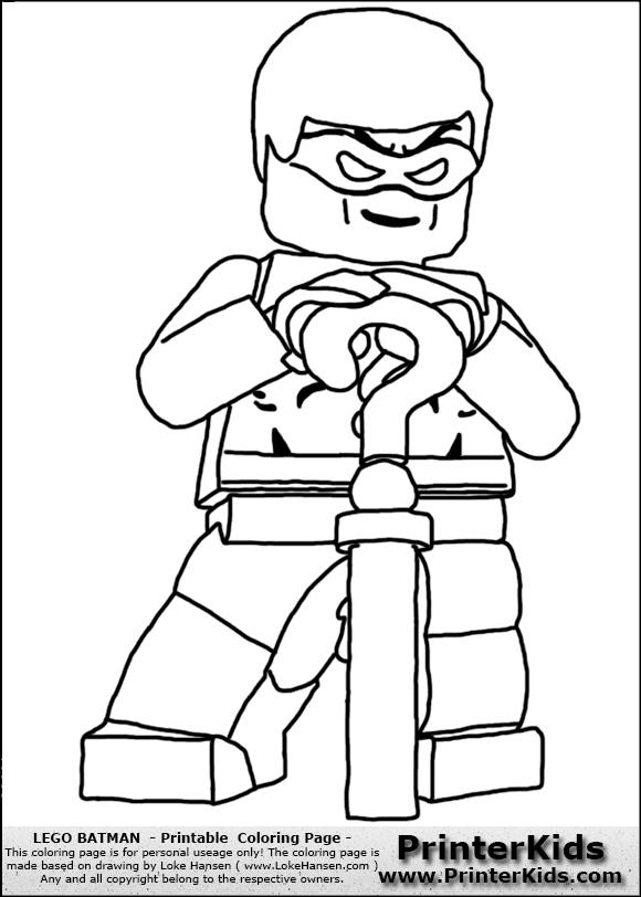 Lego Batman - The Riddler - Coloring Page