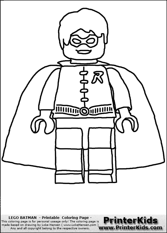 free batman lego coloring pages