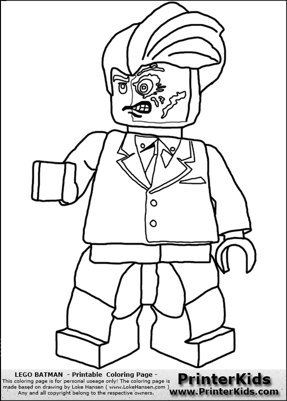 Lego Cartoon Coloring Pages Lego Batman 2 Coloring Pages