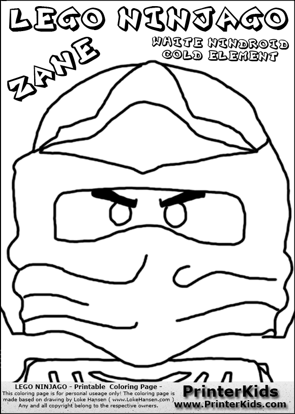 zane ninjago coloring pages - photo#48