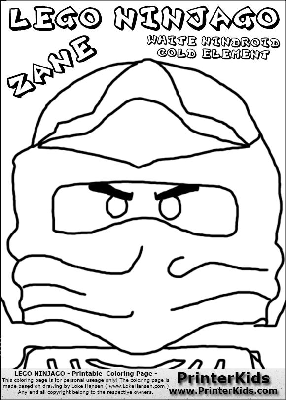 zane ninjago coloring pages - photo #48
