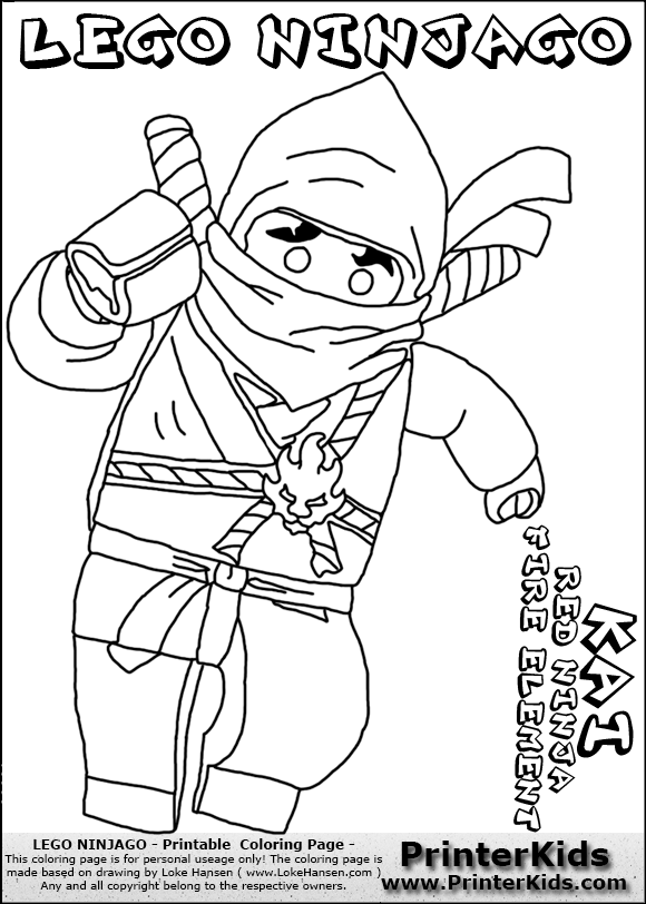 Ninjago Printable Coloring Pages Lego Coloring Pages With