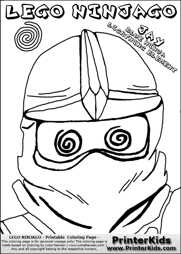 Lego NINJAGO JAY HYPNOTIZED Coloring Page Preview