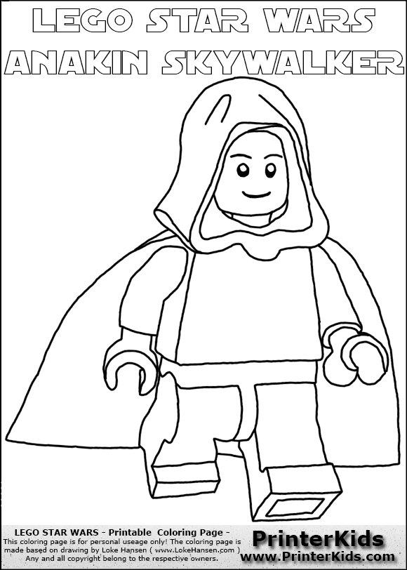 lego anakin skywalker coloring pages - photo#21
