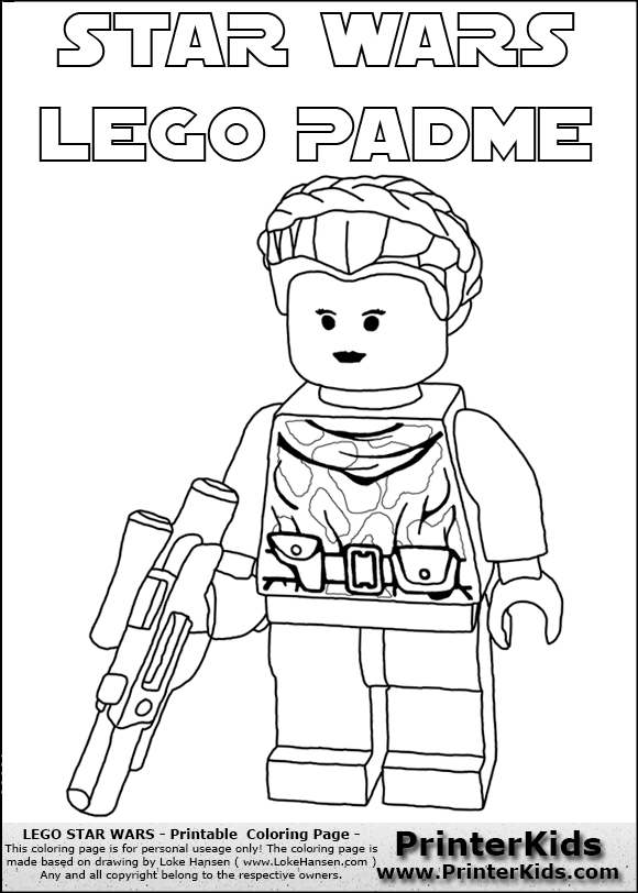 Padme Coloring Pages Color Page Online