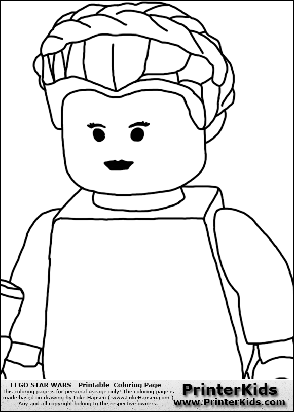 princess leia coloring page coloring pages - Lego Princess Leia Coloring Pages