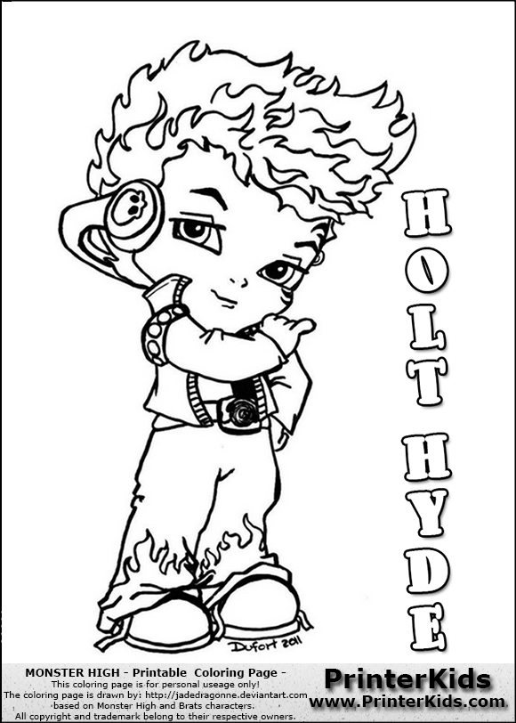 print your free monster high coloring pages - Monster High Chibi Coloring Pages