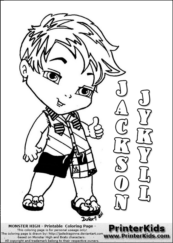view png color page online - Monster High Chibi Coloring Pages