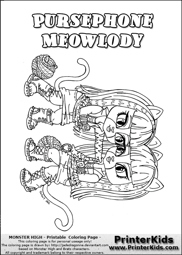baby monster high coloring pages to print - monster high baby meowlady free coloring pages