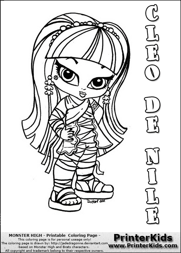 Baby monsters high imagui for Monster high babies coloring pages