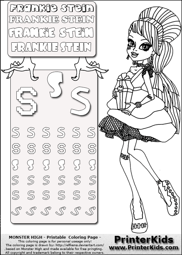 Enchanting Monster High Coloring Pages Frankie Stein Sweet 1600 ...