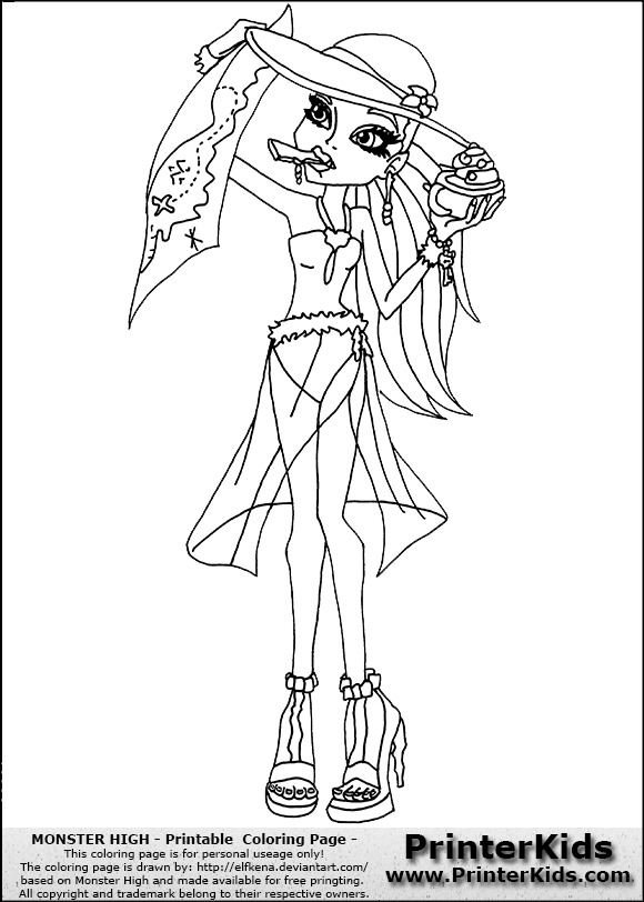 Free Venus From Monster High Coloring Pages