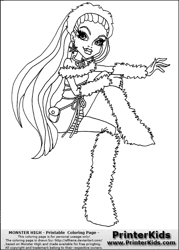 Free Coloring Pages Of Monster High Baby Abby