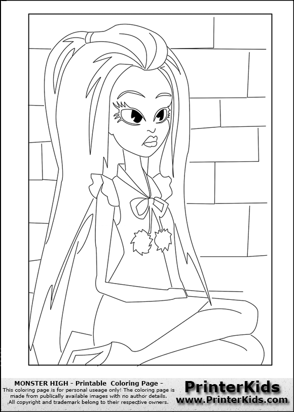 Monster High Coloring Pages Abbey Photograph