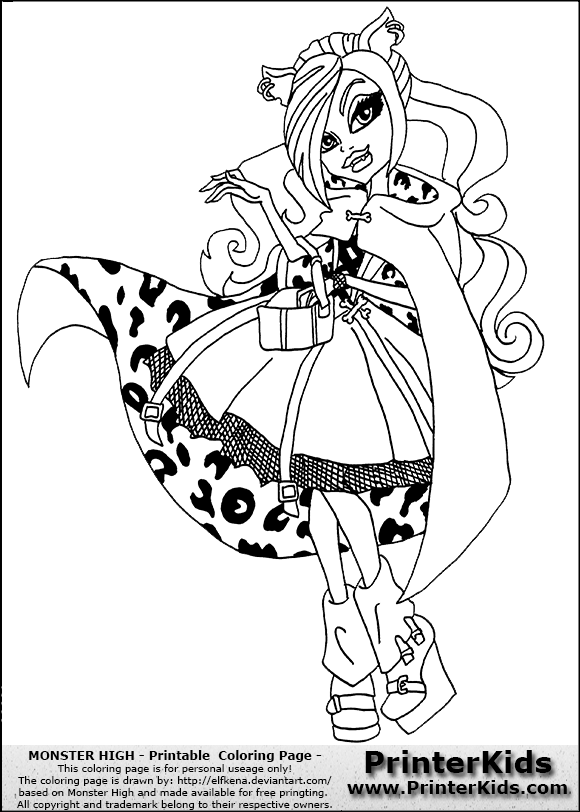 Coloring Pages For Girls Monster High Fantastic Monster High