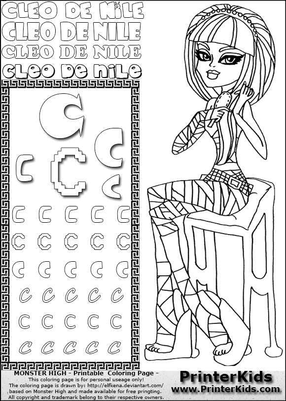 here printerkids monster high printable coloring page kids coloring