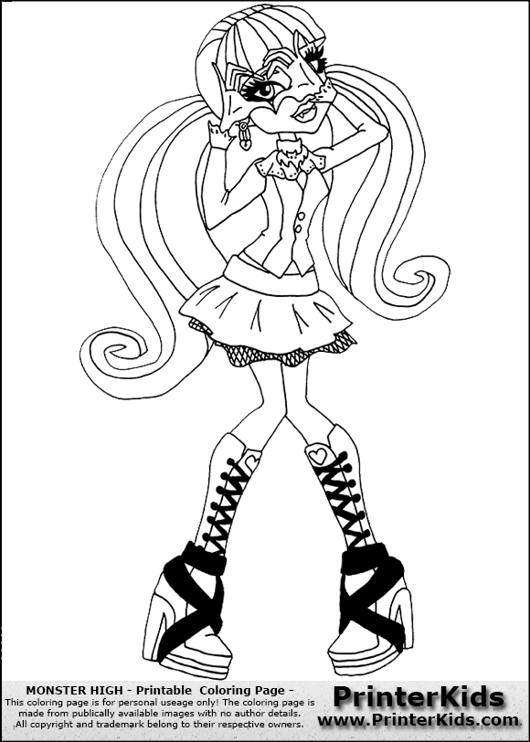 Color Page Online Monster High Draculaura Free Coloring Pages