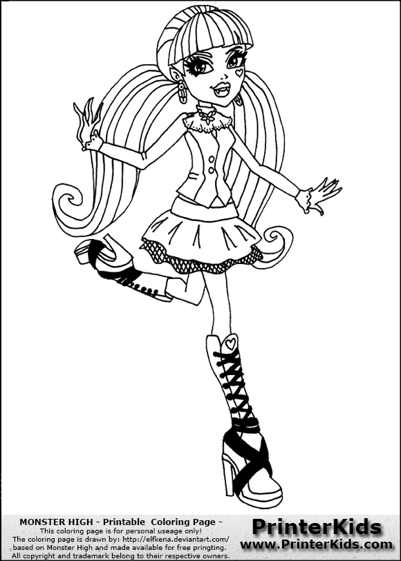 Monster High Draculaura Coloring Pages Dawn Of The Dance 3594233