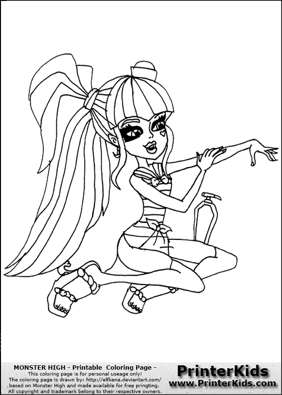 Printerkids Coloring Pages Monster High
