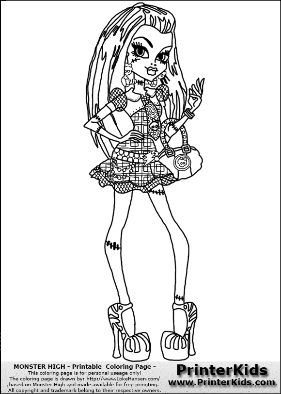 Free Frankie For Colorir Coloring Pages