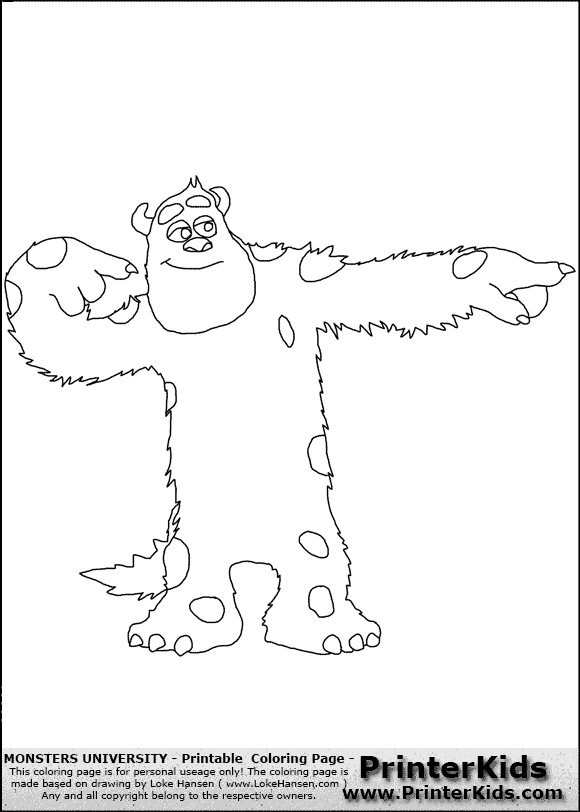 Source Printerkidscom Report Monsters University Sulley Coloring Pages