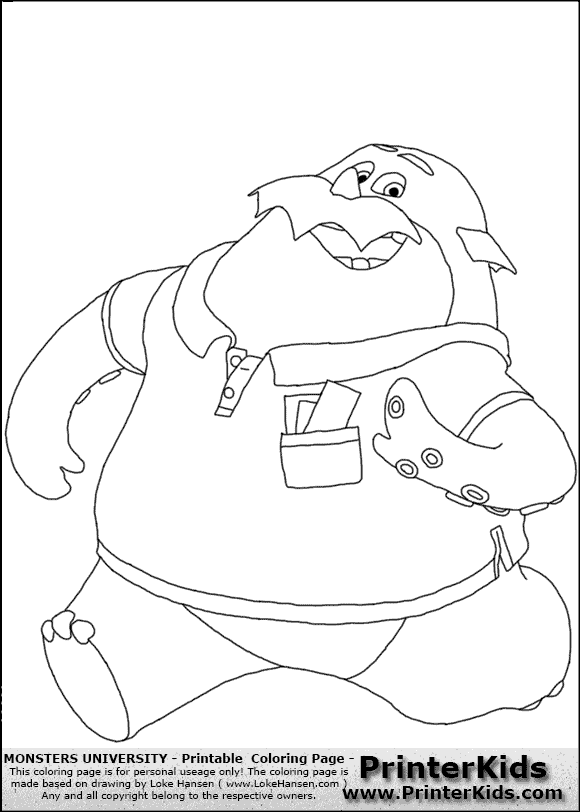monsters university logo coloring pages - photo#13