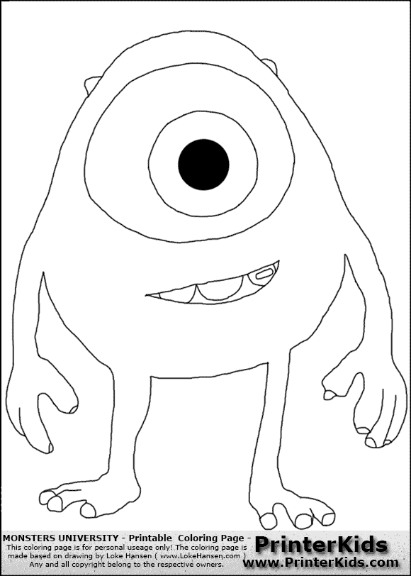 view png color page online - Pixar Coloring Pages Monsters