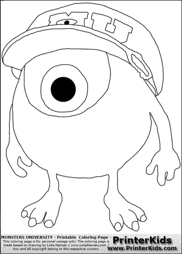 Dibujos de Monster INC. para colorear mike wazowski - Imagui