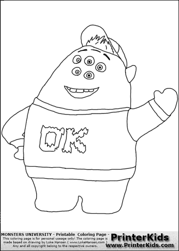 Monster University Logo Coloring Page