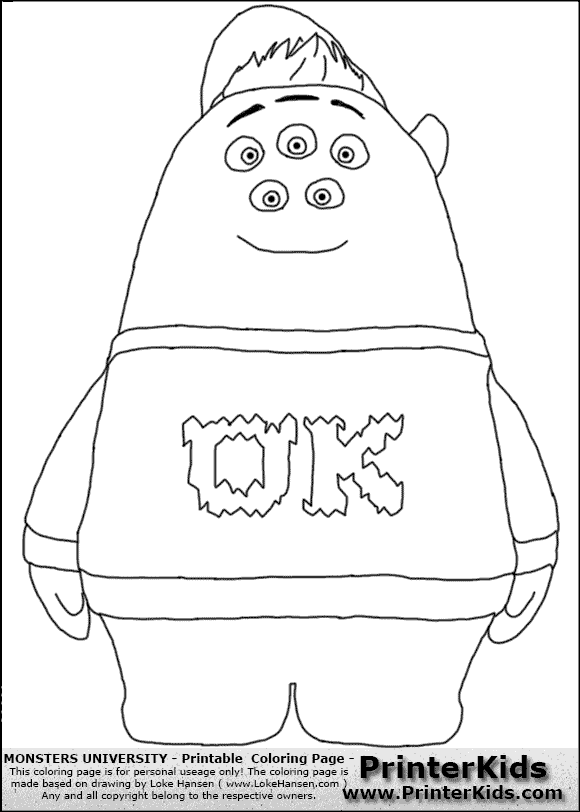 free coloring pages of times table monsters university