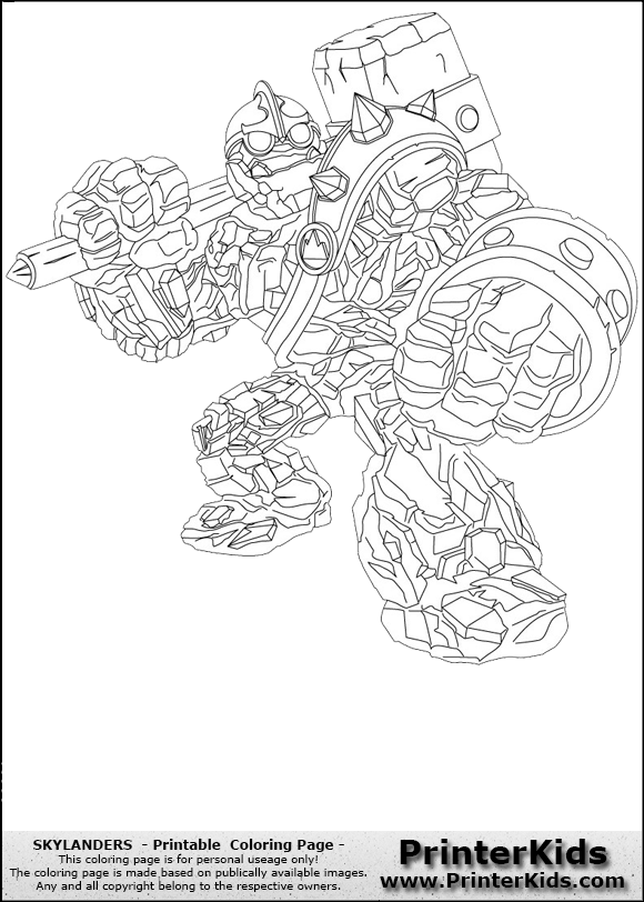 skylanders coloring pages bouncer skylanders spyros adventure skylanders giants crusher printable coloring page coloring page