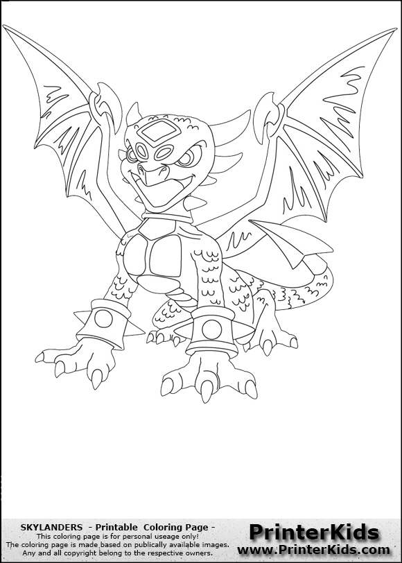 free skylanders robot coloring pages