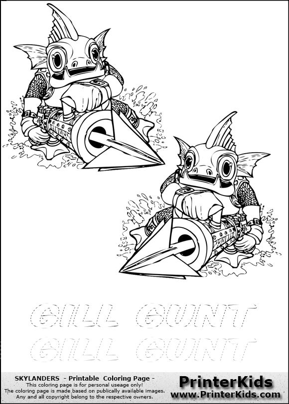gill grunt coloring pages - photo#6