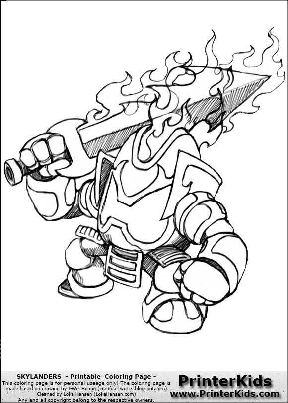 skylanders coloring pages ignitor pertronix - photo#9