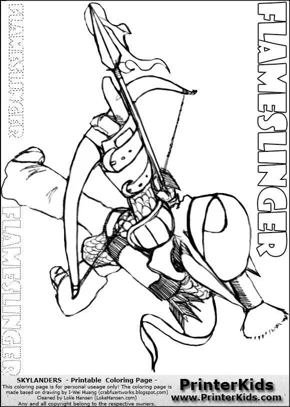 flameslinger coloring pages - photo#7