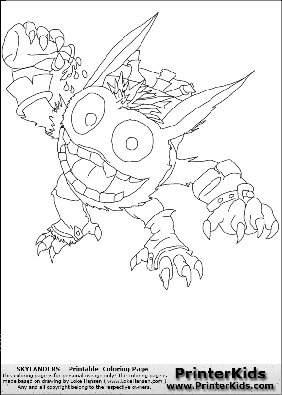 Skylanders Pop Fizz Coloring Pages - Get Coloring Pages | 812x580