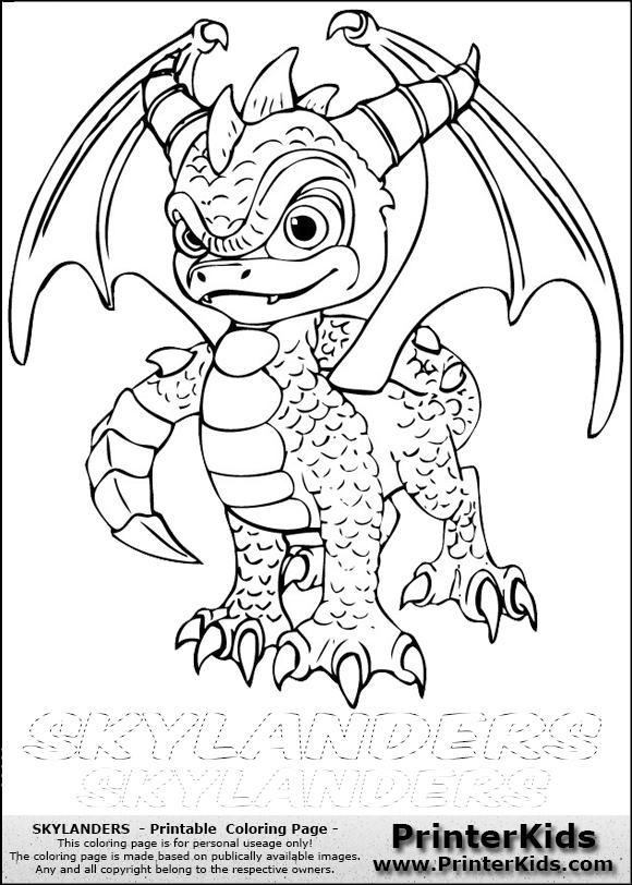 skylanders spyro printable coloring page coloring page with spyro