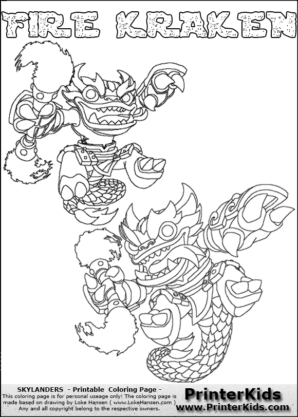 free coloring pages of skylander night shift